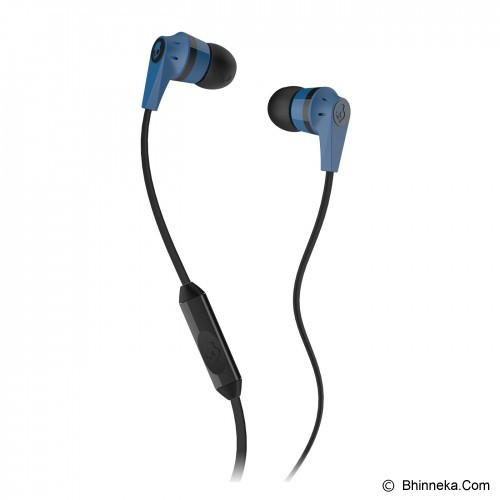SKULLCANDY Ink'D 2.0 In-Ear w/Mic 1 [S2IKDY-101] - Blue/Black - Earphone Ear Bud